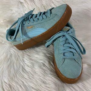 Puma Basket Platform Baby Blue Women's Sneakers